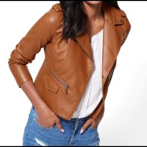 New with tags, faux leather jacket.